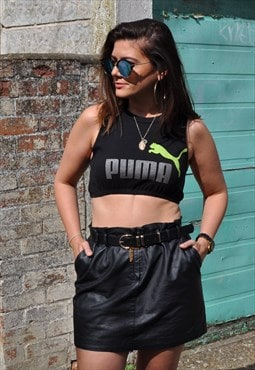 90's Puma super short elasticated hem crop