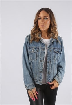 Vintage Denim Jacket Oversized Fitted UK 12 M (HDM)