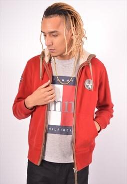 Vintage Napapijri Hoodie Sweater Red
