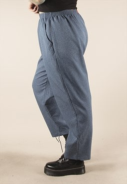 Vintage 90s Blue High Waisted Trousers /AT1101