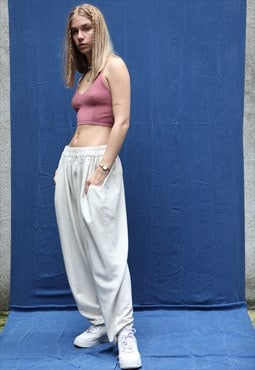 Vintage 90' Oversize Baggy Trousers in Beige