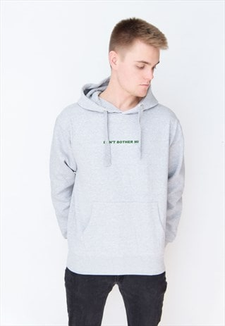 GREY DON'T BOTHER ME (GREEN) HOODIE