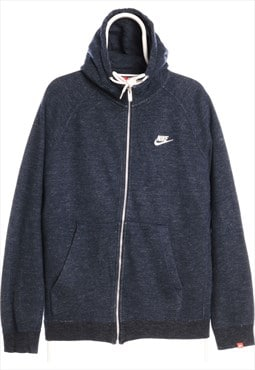 Vintage Blue Nike Zipped Hoodie - Large