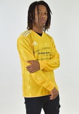 Vintage 90s Yellow Adidas Long Sleeve Football Shirt