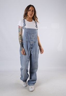 Vintage Denim Dungarees Wide Tapered Leg UK 16 XL (HC3I)