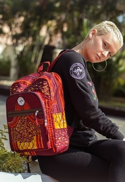 Jojo TSM African Print Beautiful School Rucksack