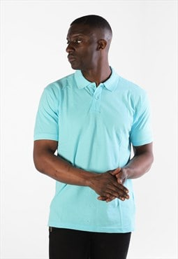 Essential Short Sleeve Collared Polo Shirt Top - Ocean Blue