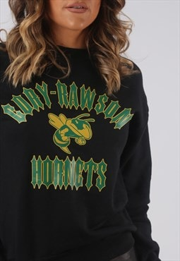 Hornets Sweatshirt Jumper Sweat Print Logo UK 6 - 8 (HKHJ)