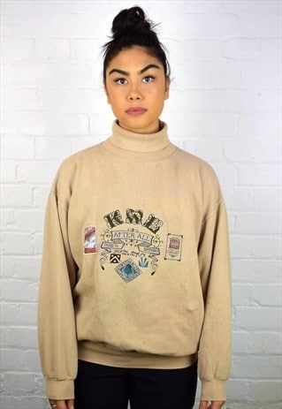 VINTAGE 90'S ROLL NECK SWEATSHIRT