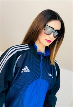 adidas windbreaker Soccer 90s running Jacket vintage top