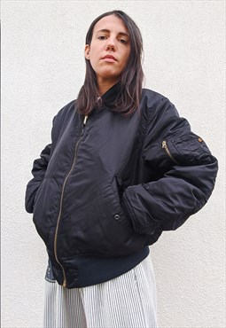 Vintage 90s oversized unisex Alpha Industries bomber Jacket