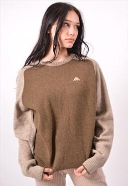 Vintage Kappa Jumper Sweater Khaki