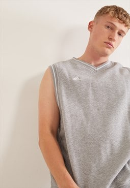 Vintage Adidas Sleeveless Sweatshirt Grey
