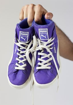 Vintage Puma Purple Padded Trainers