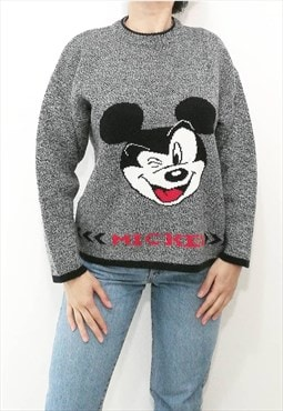 Vintage Mickey Mouse log sleeves pullover