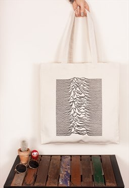 Pulsar Joy Division used Unknown Pleasures Canvas Tote Bag
