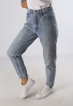 Vintage High Waisted Denim Jeans ACID WASH UK 10 - 12  (G2H)