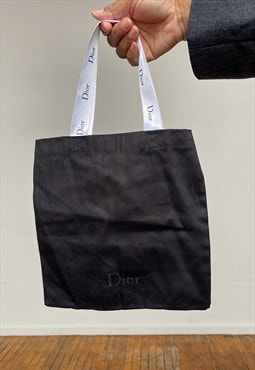 Vintage 90s Upcycled Black/White Dior Dust Bag Purse