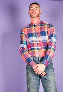 Vintage Tommy Hilfiger Shirt in Multi-coloured Checks