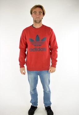Red Adidas Logo Sweatshirt