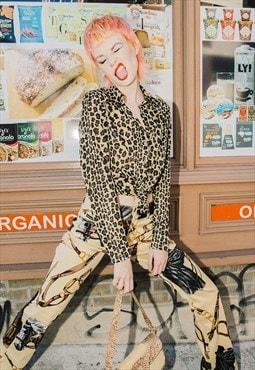Rare vintage 90's Fendi leopard print shirt