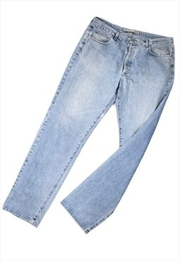 1990s Versace light wash jeans