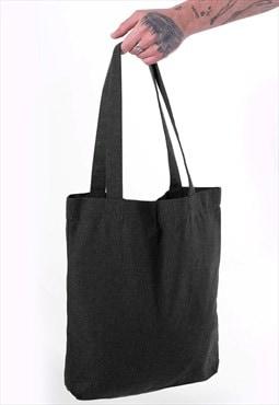 54 Floral Essential Cotton Shoulder Tote Bag - Storm Grey
