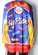 VINTAGE 90S COLOURFUL PIZZA JERSEY SHIRT. MADE IN EUROPE