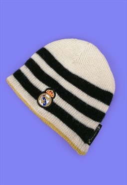Vintage 90's ADIDAS Real Madrid Football Fan Wool Hat Beanie