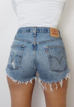 Vintage Levi's Cut Off High Waist  Denim Jean Shorts