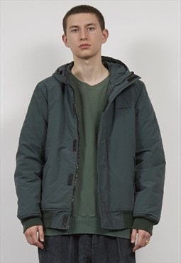 Vintage 90's Carhartt dark green padded hooded jacket