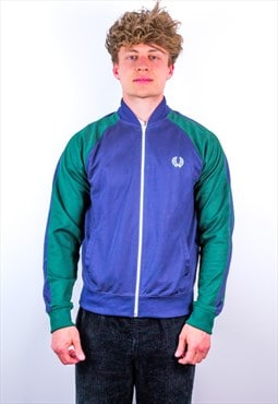 Vintage Fred Perry Jacket in Green & Blue