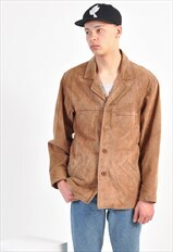 Vintage suede leather jacket