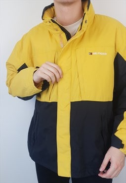 Tommy Hilfiger -  Yellow Windbreaker Jacket (XXL)