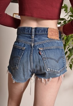 Vintage LEVIS 501 Mini Short Shorts in Blue Denim