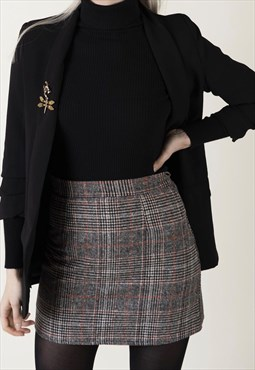 Mia - mini check woman skirt