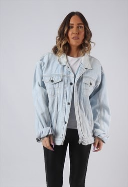 Denim Jacket Oversized Fitted JINGLERS UK 18 - 20  (CW3S)