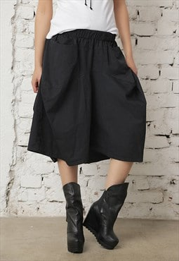 Black Skirt Pants/Cotton Skirt
