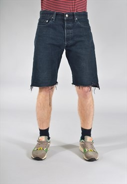 Vintage Levi's 501 Levi's Rolled Shorts Dark Blue
