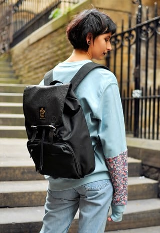 ORNATE EMBOSSED PANEL LAPTOP BACKPACK