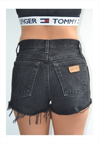 WRANGLER VINTAGE HIGHWAISTED FESTIVAL DENIM SHORTS