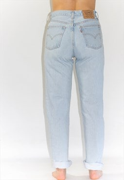 Vintage 80's High Rise Light Blue Levi Mom Jeans