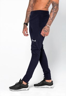 54 Floral Mini Core Slim Jogger - Navy Blue