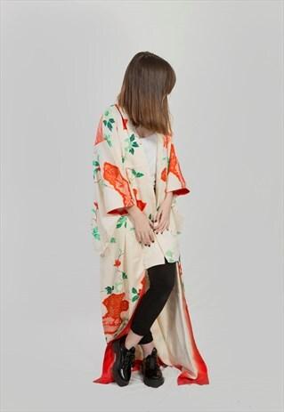 VINTAGE  JAPANESE KANAZAWA FLORAL IN GREEN