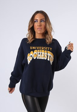 Sweatshirt Jumper UNIVERSITY Oversized Logo UK 16 (PBO)