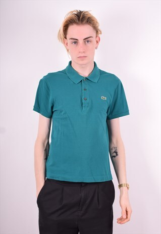 LACOSTE MENS VINTAGE POLO SHIRT SMALL GREEN 90'S