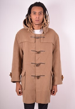 Burberry Mens Vintage Duffle Coat XL Brown 90s