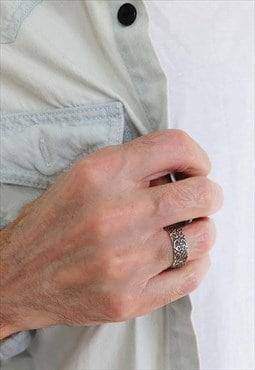 Antique Ring Men Sterling Silver Ring