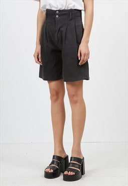 Vintage Black MICHAEL High Waisted Midi Shorts