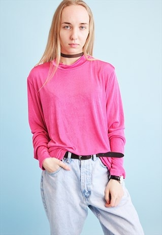 90'S RETRO OVERSIZED LYCRA BLOUSE KITSCH JUMPER TOP